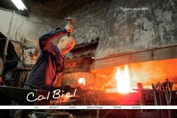 Forja Cal Biel - Cal Biel estrena pàgina web