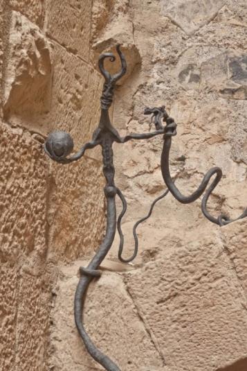 Forja Cal Biel - Final de la barana del museu de la restauració. Representació