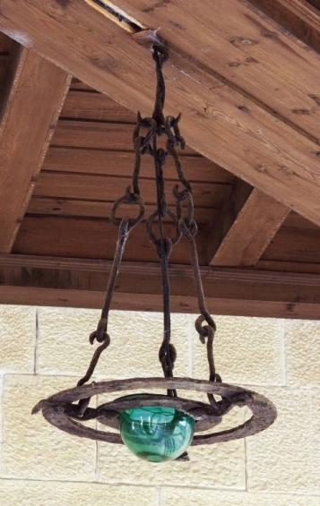 Forja Cal Biel - Llàntia del claustre del locutori.