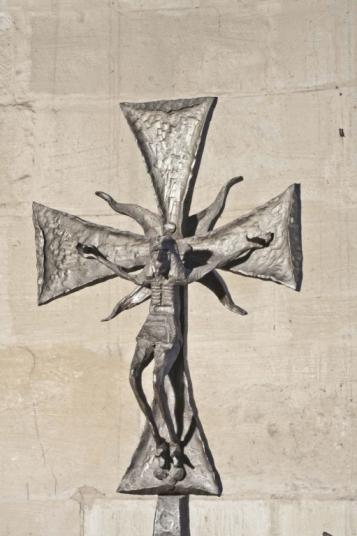 Forja Cal Biel - Creu amb crucifix de la capella de Fra Marginet.