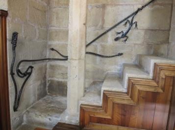 Forja Cal Biel - Barana de les escales de la trona del menjador.
